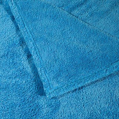 Serviette microfibre ultra douce bleu cina  taille XL 110 x 175 cm