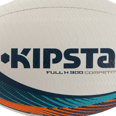 Ballon rugby Full H 700 taille 5 turquoise orange