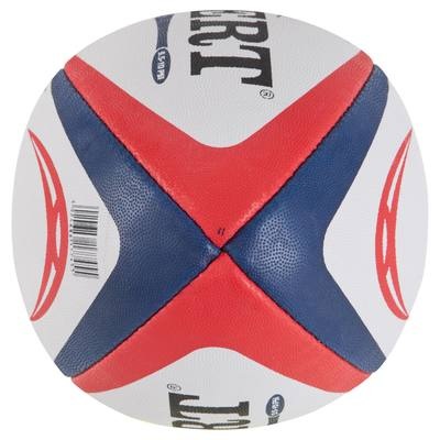 Ballon rugby match Photon taille 5 bleu rouge
