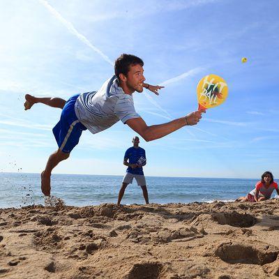 SET DE BEACH TENNIS WOODY SET BLEU