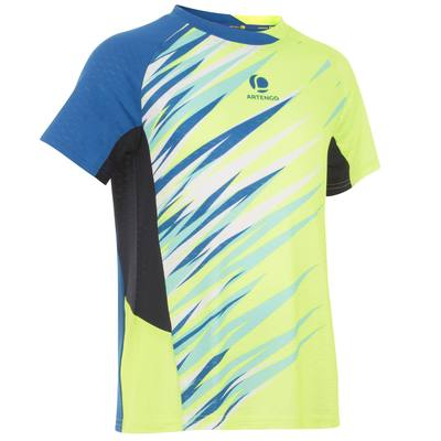 T SHIRT 860 JUNIOR DRY JAUNE BADMINTON
