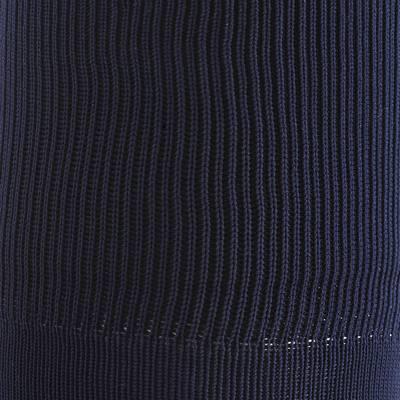 Chaussettes hautes football adulte F500 bleu marine