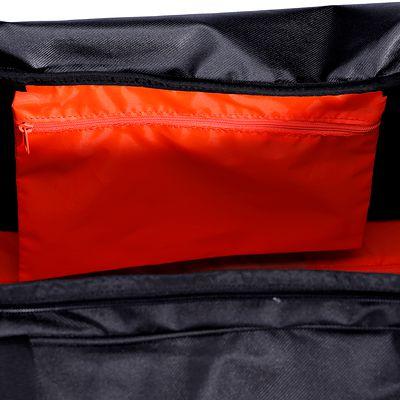 Sac de sports collectifs à roulettes Hardcase 70 litres noir orange