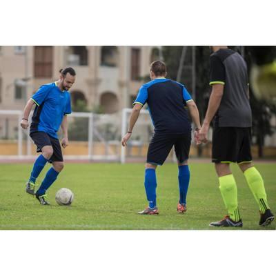 Chaussettes hautes football adulte F500 bleu roi