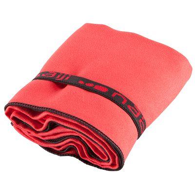 Serviette microfibre rouge ultra compacte taille L 80 x 130 cm