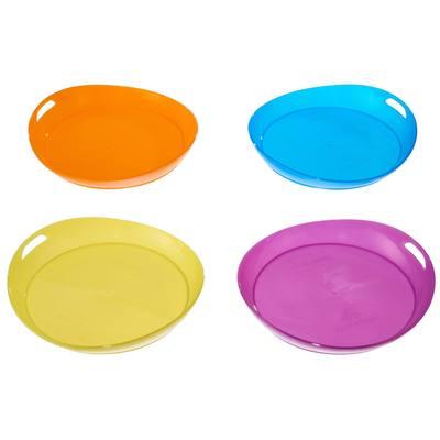 Lot de 4 assiettes plates camp du randonneur plastique