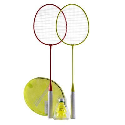 Set Raquettes De Badminton Extérieur BR Free - Rouge/Jaune