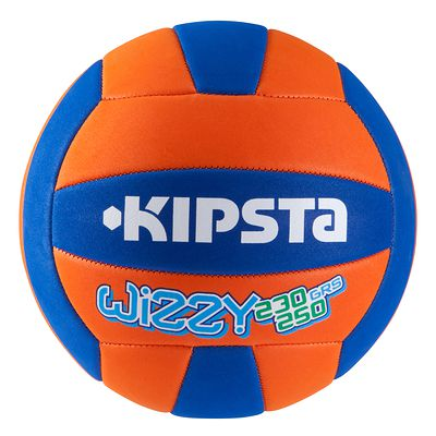 BALLON DE VOLLEY-BALL WIZZY 230G ORANGE BLEU POUR LES 10-14 ANS