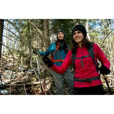 Polaire de randonnée montagne femme Forclaz 50 rose emboss