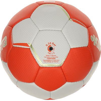 Ballon handball adulte H500 taille 3 rouge blanc