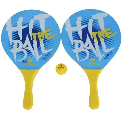 SET DE BEACH TENNIS WOODY SET BLEU