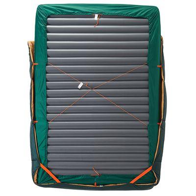 Couchage de camping 2 personnes SLEEPIN'BED COVER 15° vert (matelas non inclus)