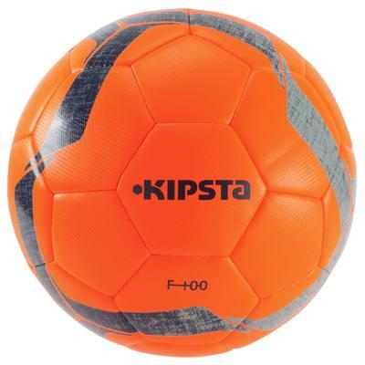 Ballon football F100 Hybride taille 5 orange