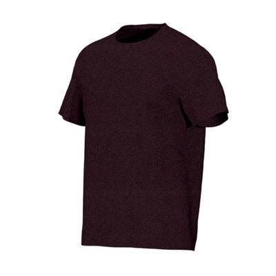 T-Shirt 500 regular Pilates Gym douce homme bordeaux chiné
