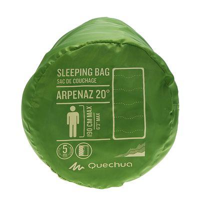 Sac de couchage de camping ARPENAZ 20° vert