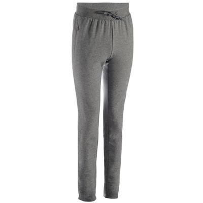 Pantalon 900 slim Gym & Pilates homme gris clair chiné