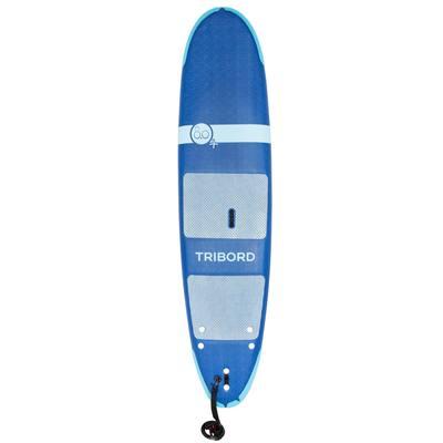 Planche de surf en mousse 500, 8'. Livrée avec un leash et 3 ailerons.