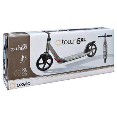 Trottinette adulte TOWN5 XL grise