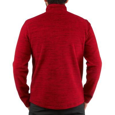 Polaire randonnée homme Forclaz 50 rouge chiné