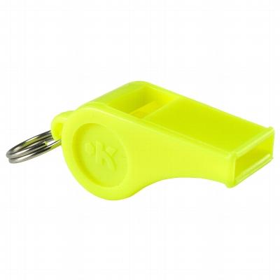 Sifflet en plastique jaune