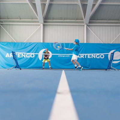 Le filet de tennis 5 mètres pour les clubs et la famille.