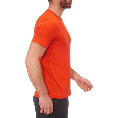 T-Shirt Manches Courtes Randonnée TechFRESH 50 homme Orange