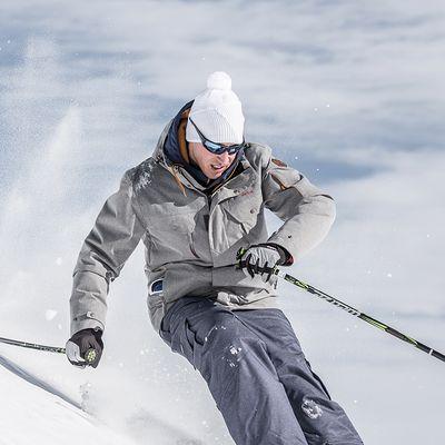Lunettes de soleil ski & montagne adulte IWATE noires & bleues catégorie 4