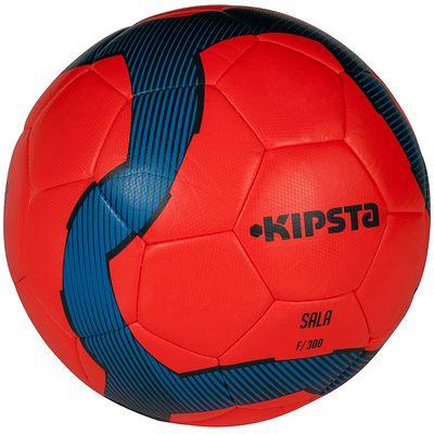 Ballon futsal 300 hybride taille 58cm rouge bleu