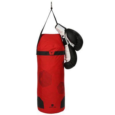 Kit initiation Boxe Enfant / Sac rouge + gants noirs