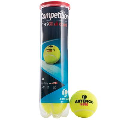 BALLE DE TENNIS COMPETITION TB930 *4 PACK *18 JAUNE
