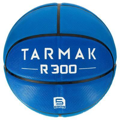 Ballon de basket enfant R300 taille 5 bleu. Résistant. Jusqu'à 10 ans