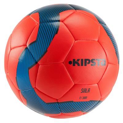 Ballon de Futsal 300 hybride taille 63 cm rouge bleu