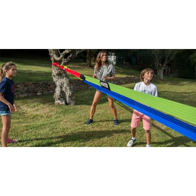 Filet de beach-volley extensible The Wiz Net rouge