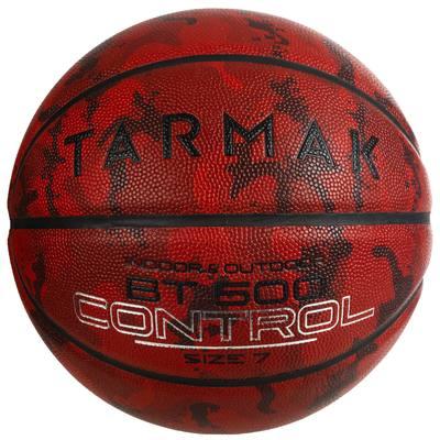 Ballon de basket BT500 T7 Camo Bordeaux