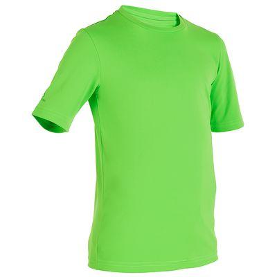 water tee shirt anti UV surf manches courtes enfant vert