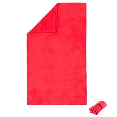Serviette microfibre ultra douce rouge taille L 80 x 130 cm