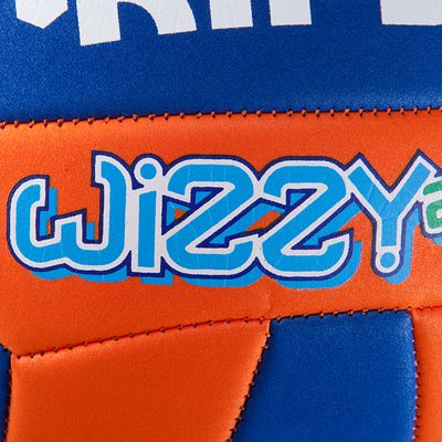 Ballon de volley-ball Wizzy 230-250g orange bleu pour les 10-14 ans