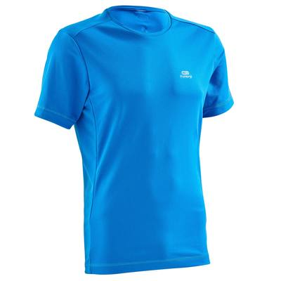 T SHIRT RUNNING HOMME RUN DRY BLEU