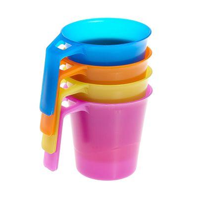 Lot de 4 mugs camp du randonneur plastique 0,3 litre