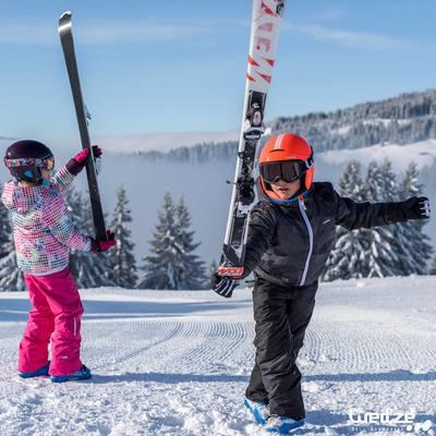 MASQUE DE SKI ET DE SNOWBOARD SNOW 300 MAUVAIS TEMPS NOIR-P
