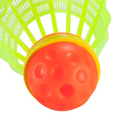 VOLANTS DE SPEEDMINTON SPEEDERS ROUGE ET JAUNE LOT DE 3