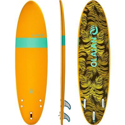 Planche de surf en mousse 7' 100. Livrée avec 1 leash et 3 ailerons.