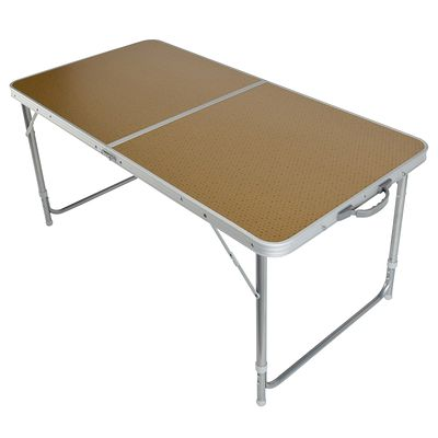 Mobilier camping table 4 ou 6 personnes marron