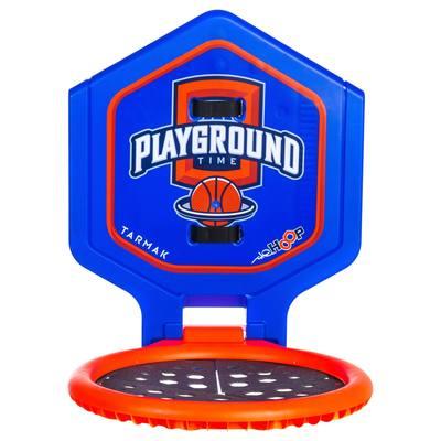 Panier de basket enfant/adulte THE HOOP Playground bleu orange. Transportable.