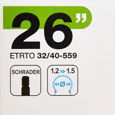 """CHAMBRE A AIR 26""""X1,2/1,5 VALVE SCHRADER"""