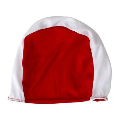 BONNET POLYESTER ROUGE/BLANC ADULTE