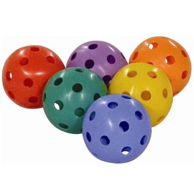 LOT DE 6 BALLES UNIHOCKEY 6 COULEURS