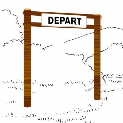 PANNEAU DE DÉPART PARCOURS SPORTIF