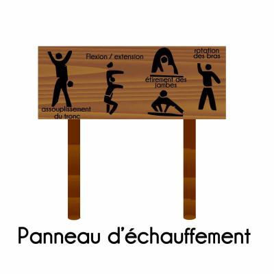 PANNEAU ÉCHAUFFEMENTS PARCOURS SPORTIF