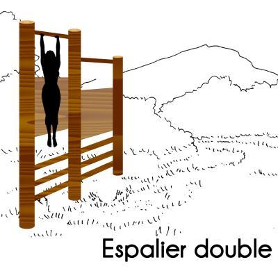 ESPALIER DOUBLE MODULE PARCOURS SPORTIF